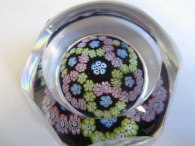 Whitefriars Glass Paperweight Facet Cut 1975