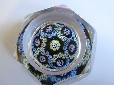 Whitefriars Glass Paperweight Facet Cut 1976