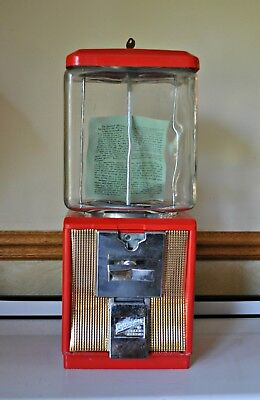 Northwestern 10 Cent Gumball Machine Unused with Key and Original Shipping Box