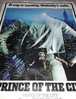 Prince of the city original movie subway poster large Sidney Lumet Treat William