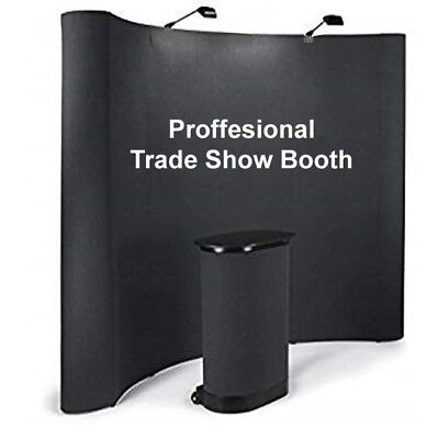 10 ' Tradeshow display booth with all accessories comes with black panels & ligt
