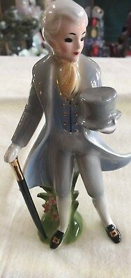 Josef Original Figurine of Man Holding Top Hat and Walking Stick