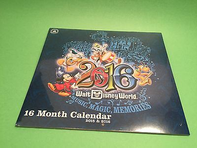 New Sealed Walt Disney World 16 Month Calendar 2015-2016 In original Packaging