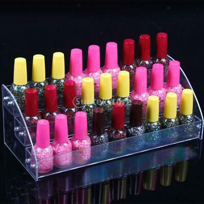 Clear Nail Polish Varnish Lipstick Dispaly Stand Rack Holder Organizer 3 T