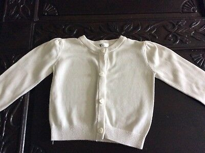 Baby Girl Buttoned Cardigan By Very 9-12 Months. Lovely Condition.