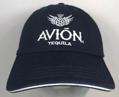 06b1a414be3 Avion Tequila Logo embroidered baseball Hat cap Adjustable. Navy Blue. NEW