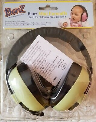 Banz Baby Toddler Mini Earmuffs green 3+ Months Hearing Protection New