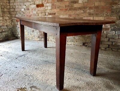 Late 19th century French antique oak farmhouse table