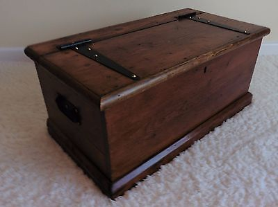Medium Stained Pine Shoe Storage Blanket Box Chest or Coffee Table