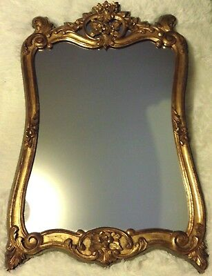 French Shabby Chic Gold Gilt Console Mirror Napoleon III 19th C