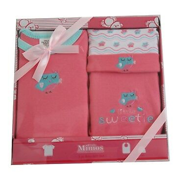 """Clothes for new born baby girl """"3 piece gift set."""" GREAT BABY SHOWER GIFT."""