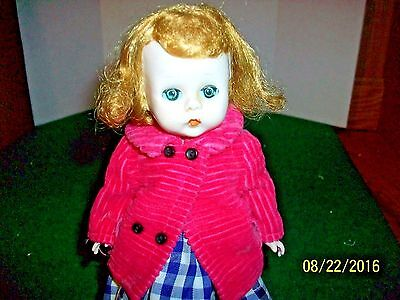 Vintage Madame Alexander Alexander-kins 7.5 inch doll SLW in Dress and Coat