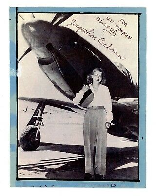 WWII WASP Pilot Jackie Cochran Signed Autograph print Lee Thompson P-51 Air Race