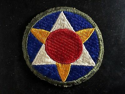 WWII Patch US Army Air Forces Bermuda Base Command OD Cut Edge OD Backing