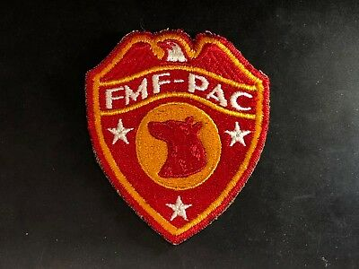 WWII Patch K-9 Dog Platoon USMC Marines FMF PAC Cut Edge Devil Dogs Okinawa e3
