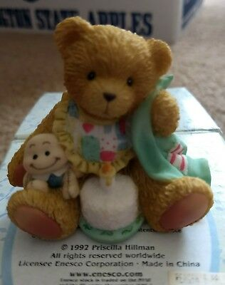 Cherished Teddies Beary Special One Age 1 Teddy Bear Birthday Figure MIB 911348