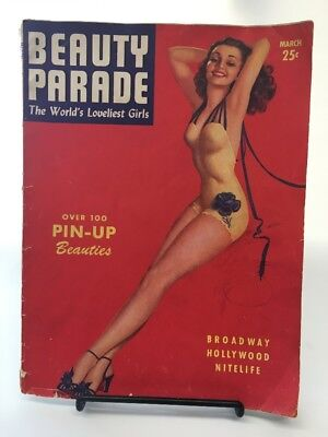 March 1944  BEAUTY PARADE fair to good condition, complete, sepia tone WWII