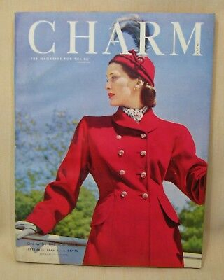 CHARM Sept. 1946, Magazine for the Business Girl, Fashions for Working Women