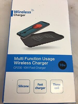 NWT Diglot Silicone Wireless Charger, 10W Fast Charger QI Charging Pad (KF)