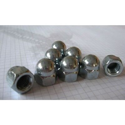 Zinc Dome Nuts, Domes Hex Acorn Nut M6 M8 M10 M12  Bzp Din 6334 Fast Shipping