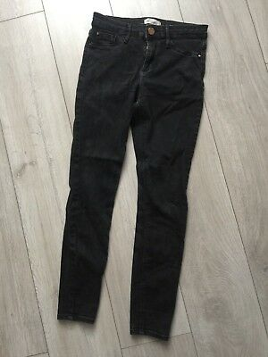 River Island Molly black skinny jeans 10 12
