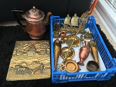 Job Lot of Antique Vintage Brass Copper