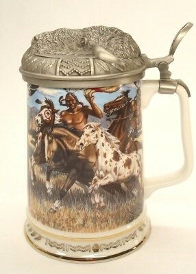 WARRIOR'S CHOICE WARRIORS OF THE PLAINS TANKARD COLLECTION by GENE STEWERT