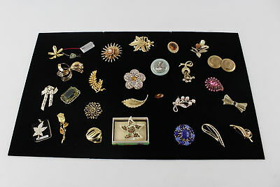 25 Vintage Gold Tone& Gold Plated BROOCHES Jewelcraft, Exquisite, Sarah Coventry