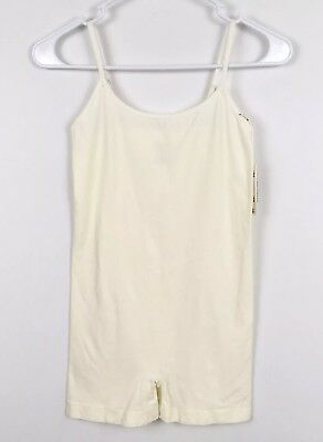 Poof Womens One Piece Seamless Camisole Shorts Size S/M Ivory Stretch Intimates