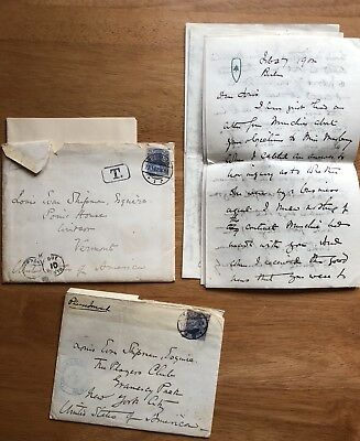 American Author Winston Churchill 4 Autograph Letters Signed