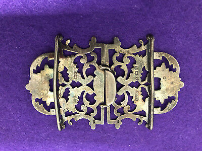 Antique 1902 Silver Nurses Buckle