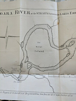 Map of Niagara River From Lake Erie to Ontario Printed 1850, Likely earlier Draw