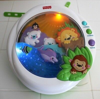 Fisher Price PRECIOUS PLANET Baby Crib Soother LIGHTS,MUSICAL,SOUNDS & MOTION