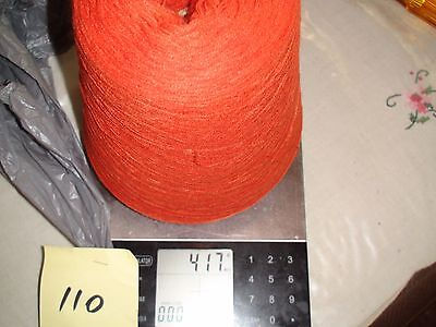 KNITTING MACHINE YARN ON CONE 2PLY SYNTHETIC BURNT ORANGE 417g