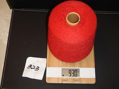 Knitting Machine Yarn On Cone 2 Ply Cotton Red 930G (323)