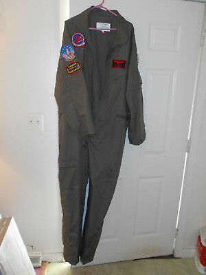 Top Gun Suit (Halloween Costume) Adult XXL FLIGHT SUIT MAVERICK Pilot Navy