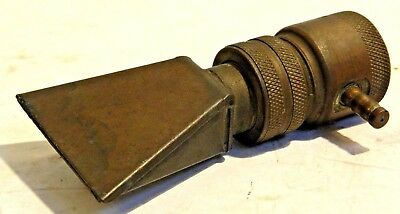 Very Unusual Solid Brass Vintage Hose Nozzle, Mr. O's or A's, Find Another!