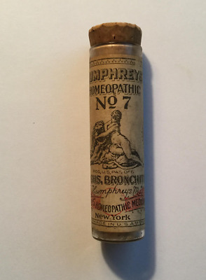 Antique Humphrey's Homeopathic Medicine # 7
