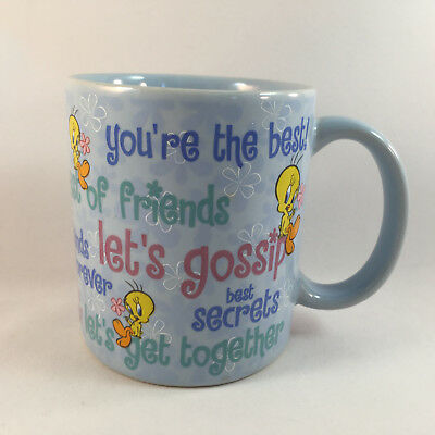 Tweety Bird Coffee Mug Best of Friends Warner Bros Studio Store 2000