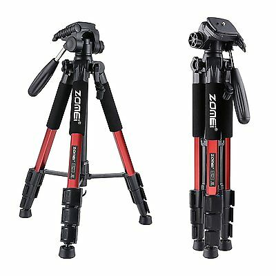 Zomei Professional Aluminium Tripod&Pan Head for Canon Nikon Camera Q111 Red