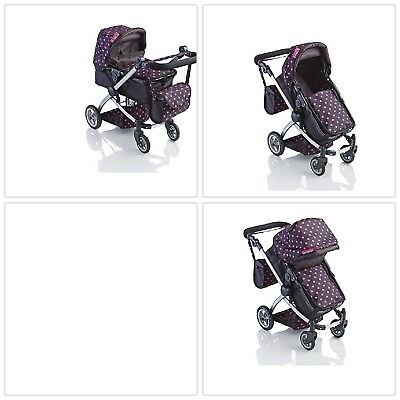 Molly Dolly Babyboo Deluxe 2 in 1 Doll Stroller Pram Toy Buggy for Dolls Child