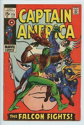 1969 Marvel Captain America #118 2Nd Appearance Of The Falcon Fn/vf  S1