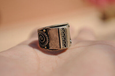 Antique Viking Medieval heavy sterling silver Ring