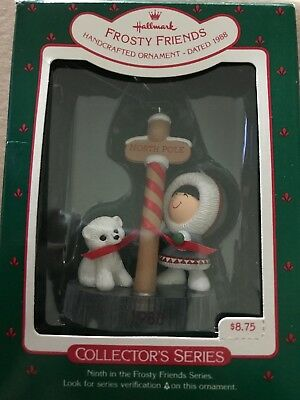 Hallmark Keepsake Ornament 1988 Frosty Friends 9th in Series