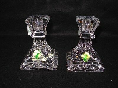"""Nwob Pair Of Waterford Lismore Lead Crystal 4"""" Candle Stick Holder"""