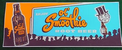 Vintage Enjoy Ol' Smoothie Root Beer Sign