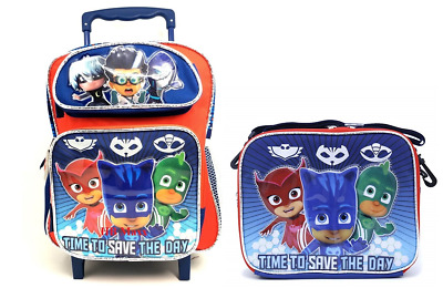 """PJ Masks Small 12/"""" inches School Backpack /& Lunch Box Brand New /& Authentic"""