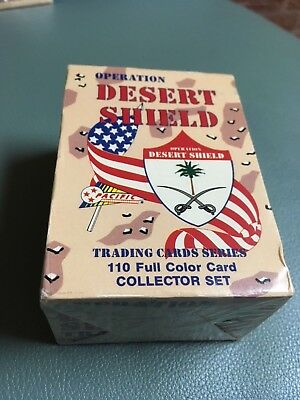 DESERT STORM: OPERATION DESERT SHIELD Complete Trading Card Set Pacific 1991 NIB