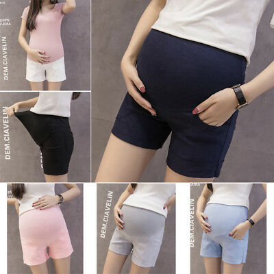 Maternity Shorts Summer Casual Pants Belly Support Maternity Clothes High Waist