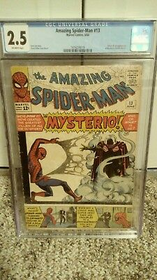 The Amazing Spider-Man 13 CGC 2.5 Off White Pages 1st Mysterio